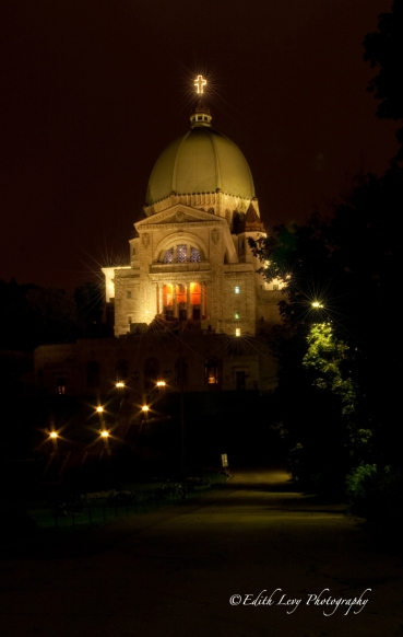 St. Joseph's Oratory. Montreal, Quebec, nightscape