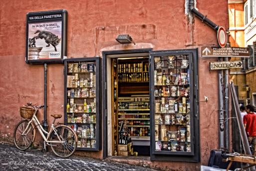 rome, italy, corner store, travel