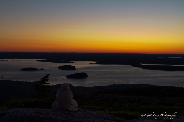Cadillac Mountain, Acadia National Park, Maine, sunrise, landscape, solitude