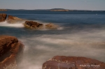 Acadia National Park, Thunder Hole, long exposure, waves, sea, Maine