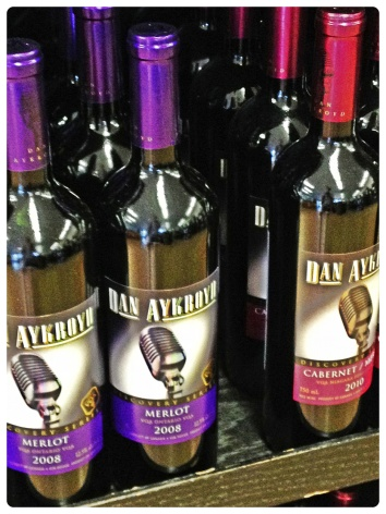 Niagara on the Lake, Ontario, winery, wine country, Dan Aykroyd wine, bottles