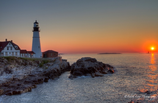 Portland, Maine, Portland Head, lighthouse, sunrise, travel photography, landscape, cliff
