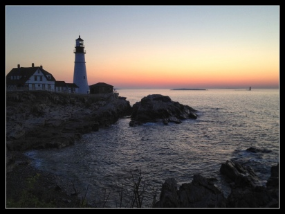 Portland Head Lighthouse, Portland, Maine, sunrise, landscape, travel