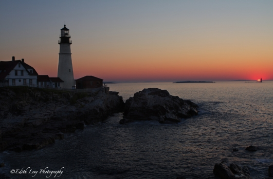 Portland, Maine, Portland Head, lighthouse, sunrise, travel photography, landscape, cliff