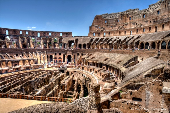 Rome, Italy, Coliseum, ancient ruins,