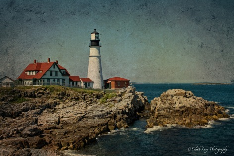 Portland Head, lighthouse, Maine, travel, fine art,