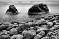 Rocks, Halfway Log Dump, Lake Huron, Tobermory, landscape, long exposure