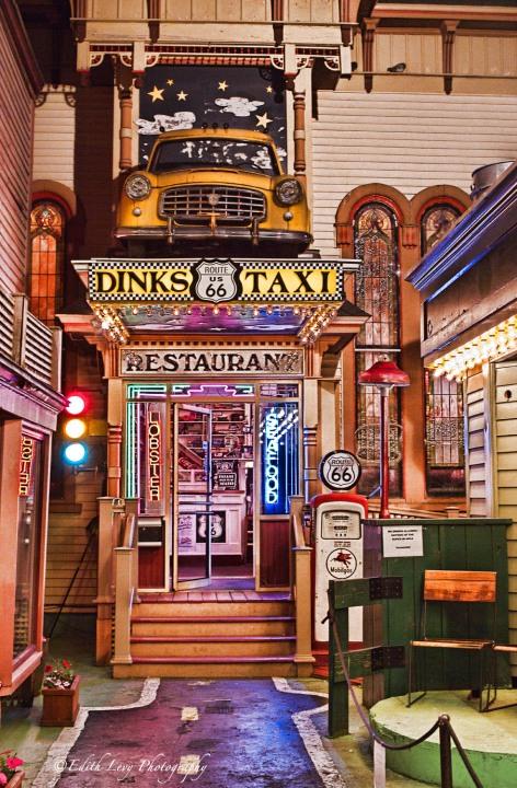 Bar Harbor, Maine, restaurant, Route 66, retro, travel
