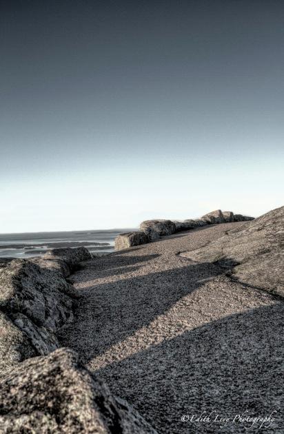 Acadia National Park, Maine, Bar Harbour, Mount Desert, winding road, shadows