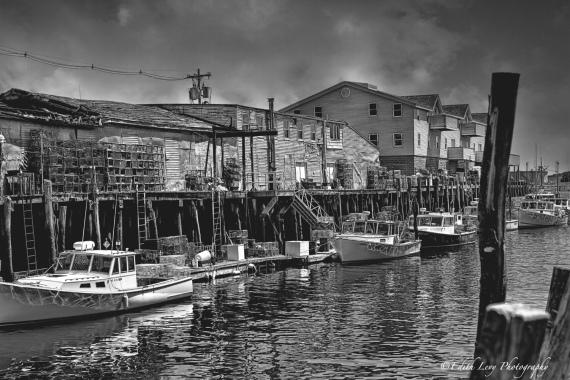 Portland, Maine, pier, fishing, lobster trap, wharf