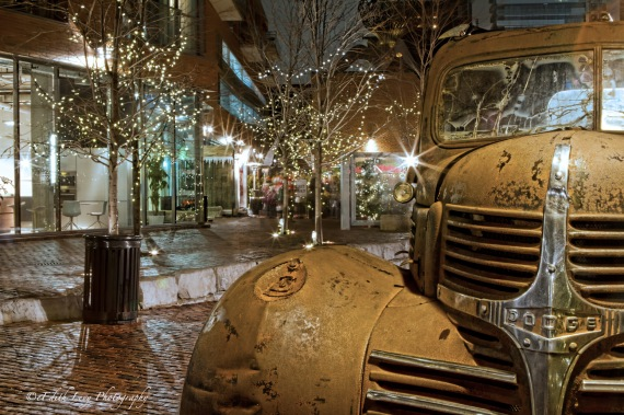 Distillery District, Toronto, Christmas Market, Dodge, vintage