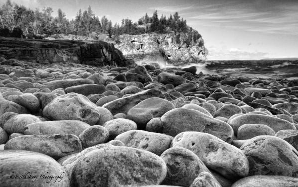 Bruce Peninsula National Park, Ontario, Tobermory, rocky shore