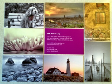 MOO.com, business cards, edith levy photography