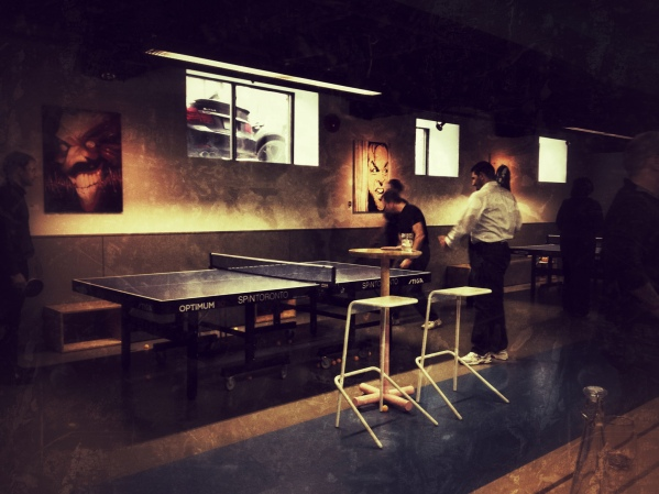 Spin, Ping Pong, bar, lounge, iphoneography, toronto, king street west