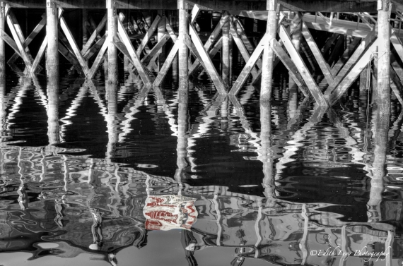 Bar harbor, Maine, reflections, pier, water