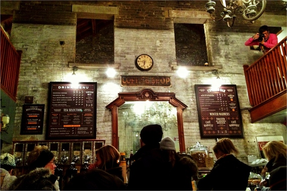 Balzac's; coffee house; Toronto; Distillery District; iphoneography