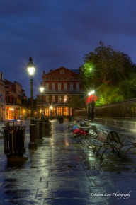 New Orleans, NOLA, Jackson Square, benches, sunrise, dawn, travel photography