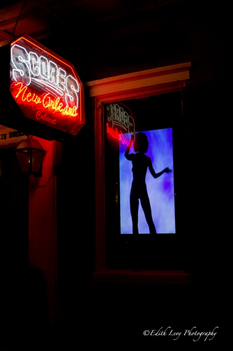 Bourbon Street, New Orleans, bar, cabaret, Scores, dancer, signs, illumination