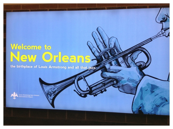 NOLA, New Orleans, sign welcome,