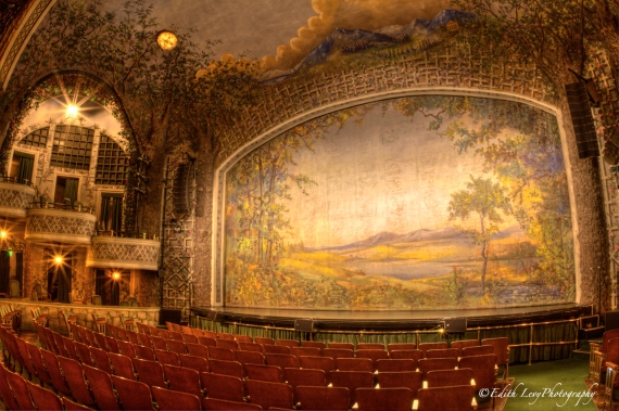 Winter Garden theatre, Toronto, stage, balcony, fire curtain