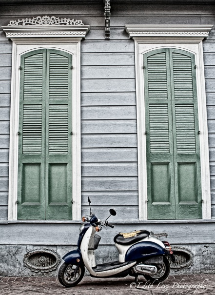 New orleans, French Quarter, Vespa, travel, city