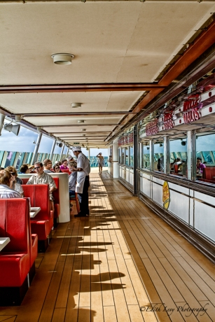 Navigator of the Seas, cruise, ocean, restaurant, Johnny Rockets, sports deck