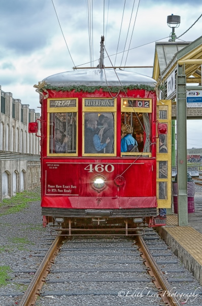 streetcar, cable car, riverfront, new orleans, tracks, station, travel