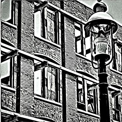 street lamp, Toronto, iphoneography, Tangled FX