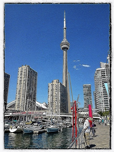 Toronto, waterfront, CN Tower, iphoneography, Tangled FX