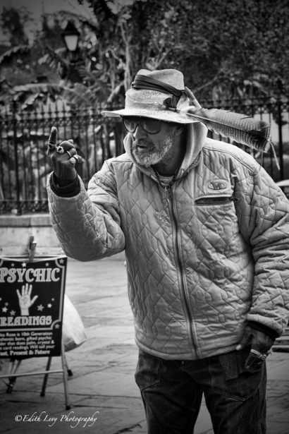 Jackson Square, New Orleans, French Quarter, Street performer, street photography