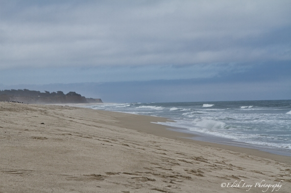 Half Moon Bay, California, pacific coast, beach, sand, fog, pacific coast highway, travel photography