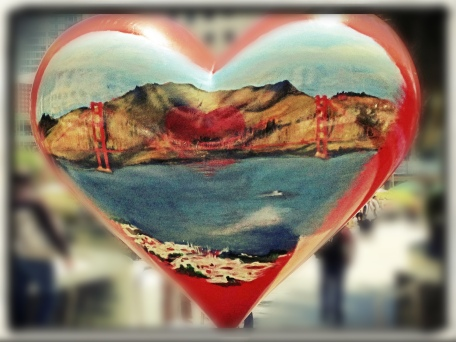 San Francisco, California, heart, art, sculpture, iphoneography, Snapseed, PhotoToaster, BlurFX