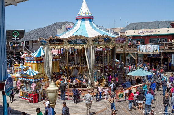San Francisco, Fisherman's Wharf, Pier 39, Merry-Go-Round, Amusement park, carousel, travel photography
