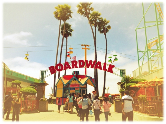 Santa Cruz, boardwalk, amusement park, California, iphoneography, Snapseed, PhotoToaster