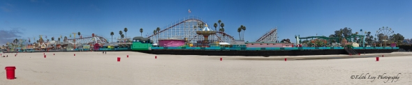Santa Cruz, California, beach boardwalk, amusement park, sand, waterfront, pacific coast, panorama
