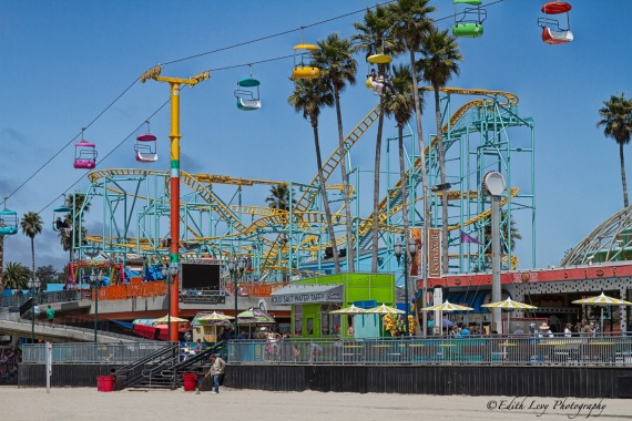 Santa Cruz, California, Beach Boardwalk, Amusement Park, rides, Travel Photography, Pacific Coast, the Big Dipper