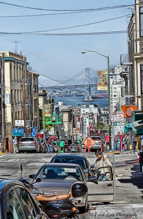 San Francisco, California, cable car, cars, bay, broadway, travel photography, Bay Bridge