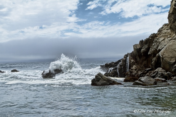 Pfeiffer Beach, California, Big Sur, sea, water, rocks, rolling waves, travel photography