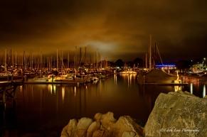 Monterey Bay, marina, night, long exposure, ships, water, travel photography