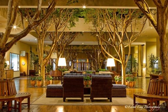 Monterey Bay, California, Portola Hotel, lobby, interior