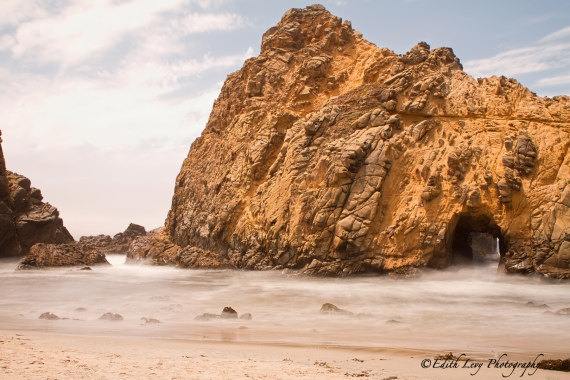 Pfeiffer Beach, Big Sur, California, State Park, rock, long exposure, travel photography, colour