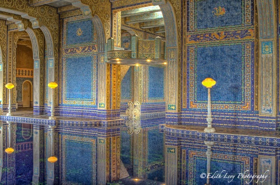 Hearst Castle, Roman Pool, San Simeon, California, indoor pool, water, reflections, travel photography