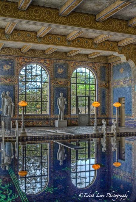 Hearst Castle, Roman Pool, San Simeon, California, indoor pool, water, reflections, travel photography
