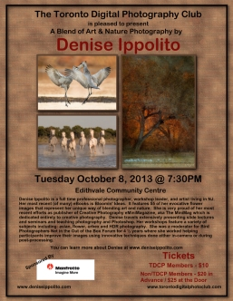 Denise Ippolito, workshops, Toronto, Toronto Digital Photography Club