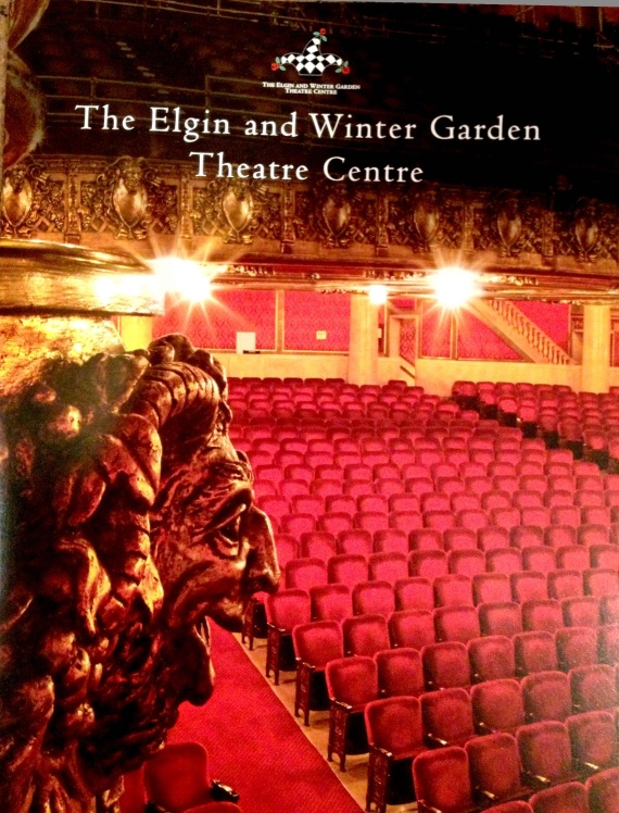 Elgin Theatre, WinterGarden Theatre, 100th Anniversary, Brochure Cover, Edith Levy Photography,
