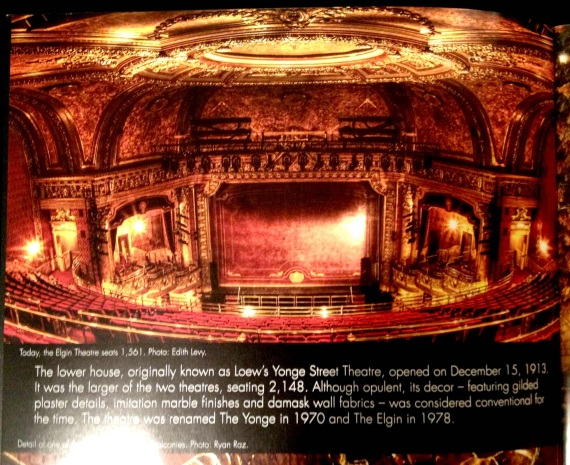 Elgin Theatre, WinterGarden Theatre, 100th Anniversary, Brochure, Interior Spread, Edith Levy Photography,