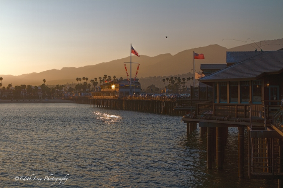Stearns Wharf, Santa Barbara, California, pier, wharf, sunset, seascape, pacific ocean, travel photography
