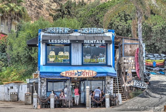 Malibu, California, surf, surf shack, hang ten, travel photography, HDR,