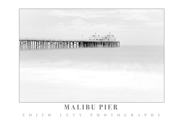 Malibu Pier, California, long exposure, high key, beach, waves, malibu pier cafe, travel photography
