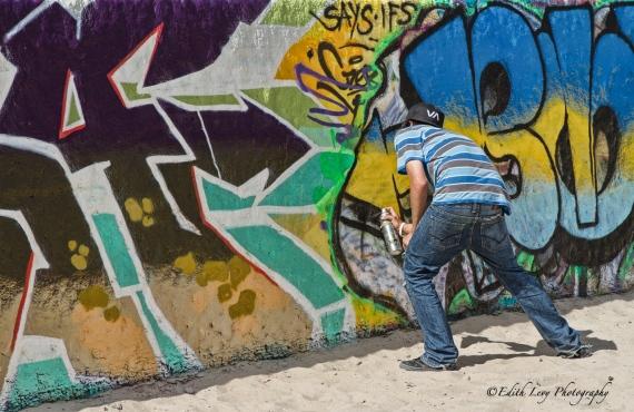 Venice beach, California, graffiti, wall, beach, artist, spray paint, art, outdoor art, pacific ocean